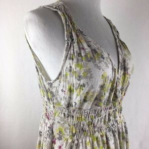 DKNY Sleeveless Spring Floral V-Neck Sweet Dress